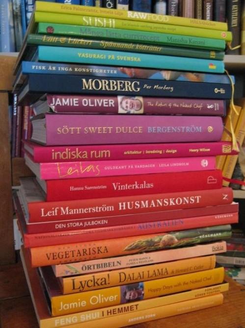 sorterade böcker